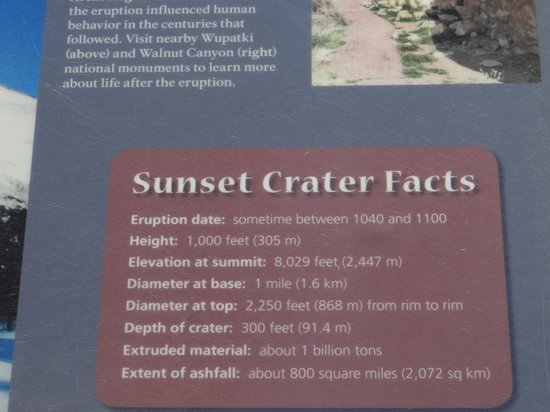 Facts picture of sunset crater volcano national monument for Facts about the monument