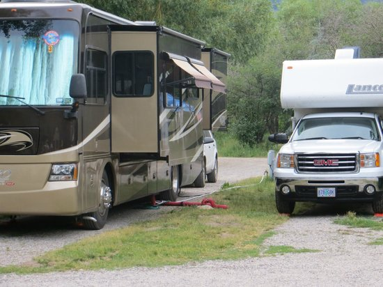 Jackson Hole Campground at Fireside Resort: sewer right outside your door