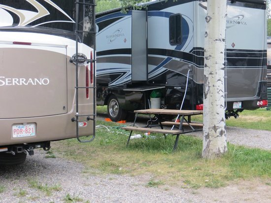 Jackson Hole Campground: notice the utilities