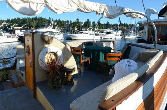 Wharfside Bed and Breakfast Aboard the Slowseason: Aft Deck