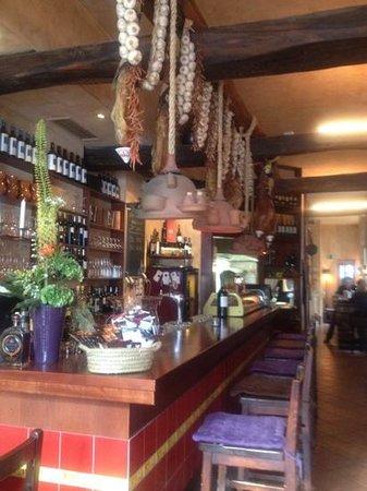 Volver: inside the restaurant