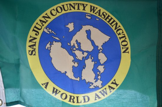 Wharfside Bed and Breakfast Aboard the Slowseason: San Juan County Flag
