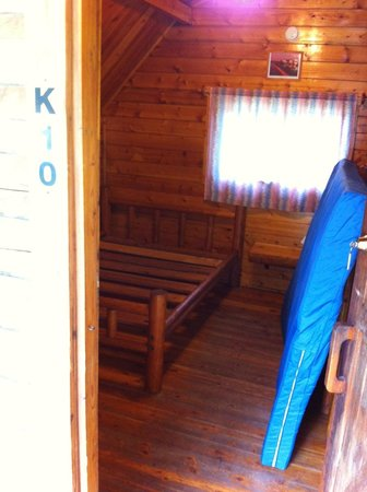 KOA Campground: View of inside the cabin
