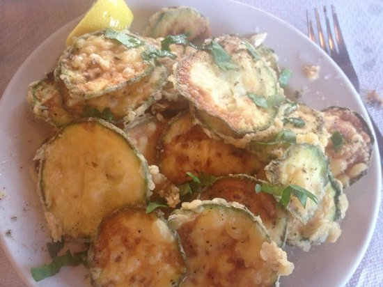 Taverna Minori : The most amazing fried courgettes