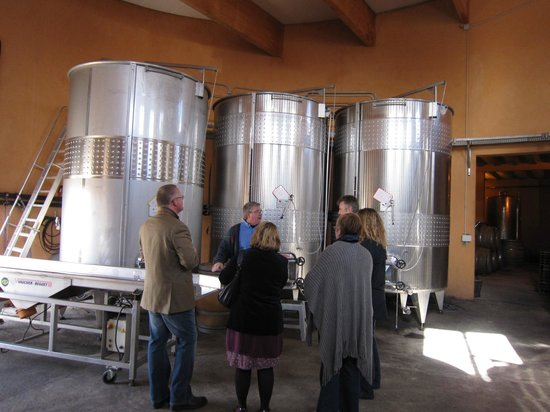 O'Vineyards: Joe explaining about all things wine in his winery!