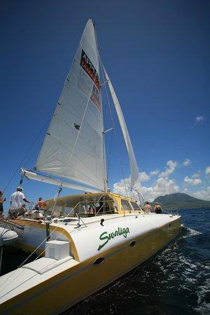 Blue Water Safaris: Sailing between St Kitts & Nevis