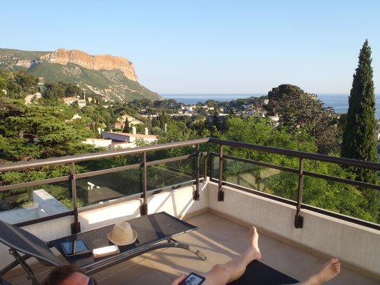 """L'Avila Cassis: View from room (""""Orki"""") terrace"""