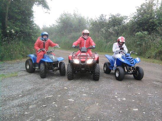 Southdown Adventure: 3 happy bikers
