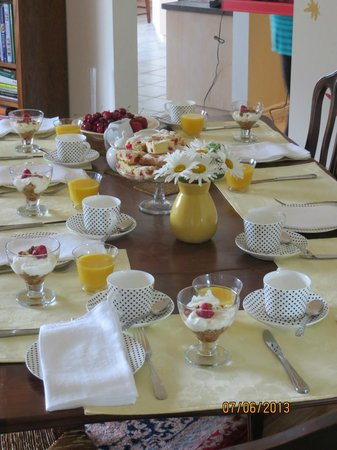 Orchard Croft Boutique Country Retreat: Breakfast table