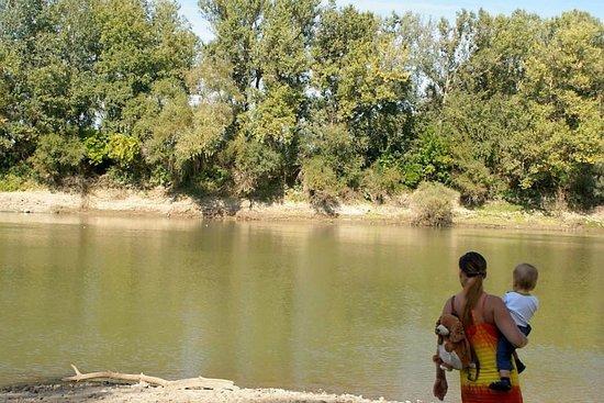 Tisza River: with family
