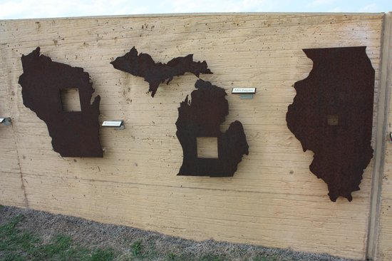 Homestead National Monument of America: pictograph of the homestead movement
