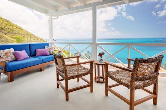 Guana Island : Sea View Cottage Terrace