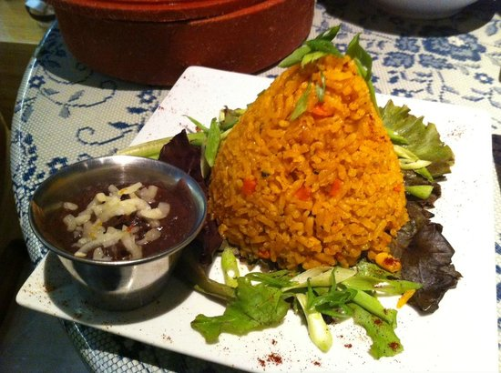 La Madre : House Rice and Refried Beans