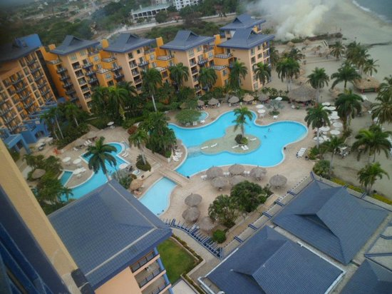 Zuana Beach Resort Areas De Piscina Vista Desde Arriba