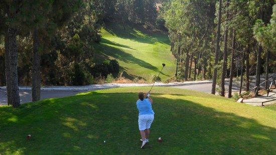 El Chaparral Golf Club: 100 yard drop then dog leg right