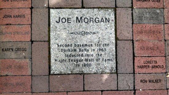 """Durham Bulls Athletic Park : Joe Morgan """"tile"""""""