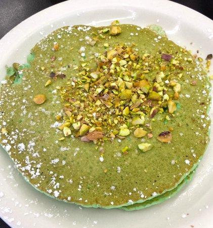 Pistachio Pancakes at Cousins Cafe