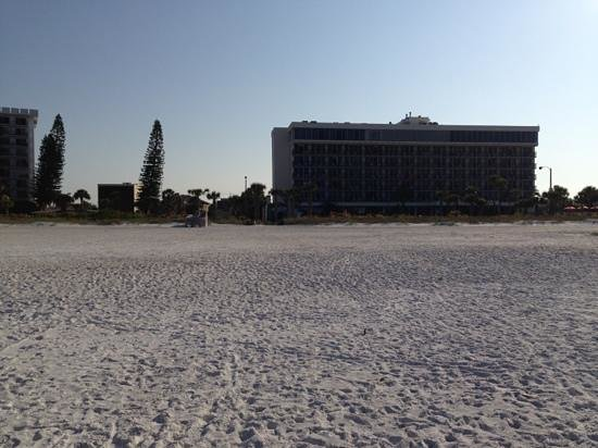 Holiday Inn Sarasota - Lido Beach: View of hotel from the beach.