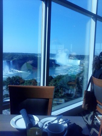 one view of the falls from our table at the breakfast buffet rh tripadvisor co za