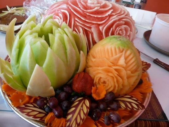 Fruit carving special order picture of bangkok village
