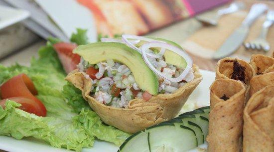 Park Royal Mazatlán: ceviche y taquitos de marlin