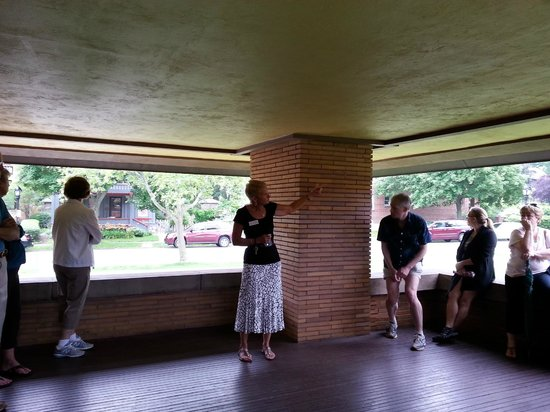 Frank Lloyd Wright's Darwin D. Martin House Complex: Judith our guide