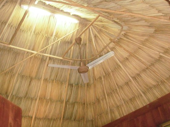 Lamanai Outpost Lodge: The beautiful cabana thatched roof