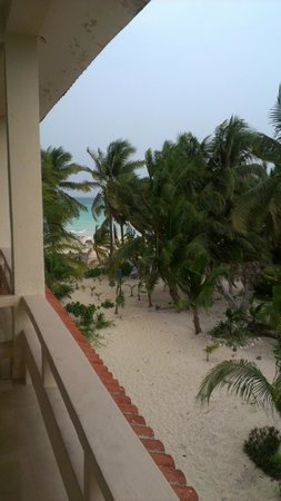 Cabanas Maria Del Mar: The view from our hotel balcony