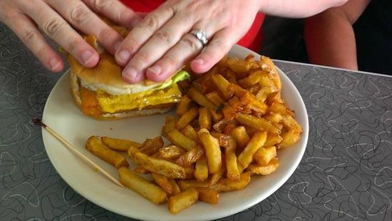 Summit Diner: Fish sandwich...if you can call it that