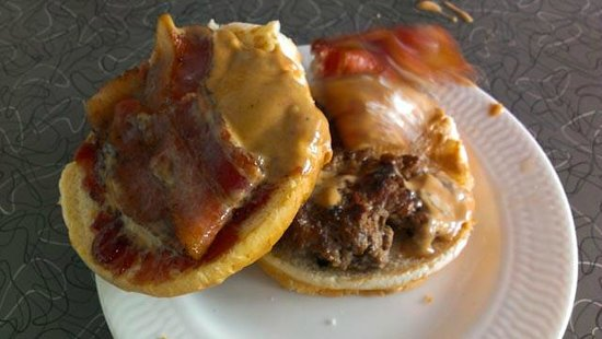 Summit Diner: Peanut butter with bacon burger