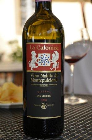 Villa di Piazzano: Delicious Tuscan Wine Menu