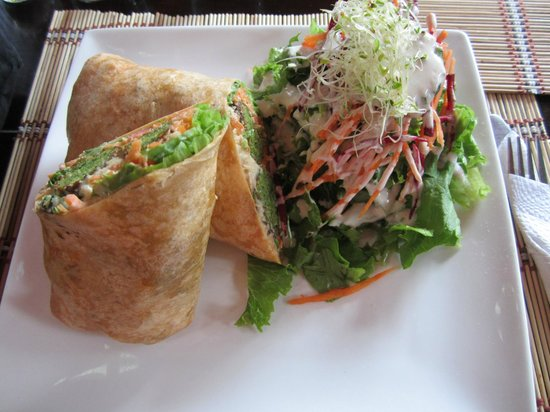 Mantras Veggie Cafe and Tea House: Hummas wrap
