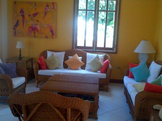 Tobago's Hibiscus Golf Villas & Apartments : living area again