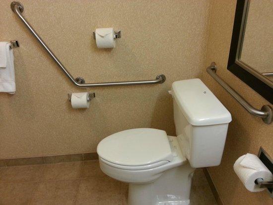 Holiday Inn Express Kelowna: No shortage of TP & no fear of falling/getting up