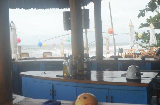 Rory's Beach Bar: not so sunny but still lovely