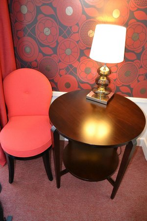 Hotel Carlton Lyon - MGallery Collection: Small table I used for a desk