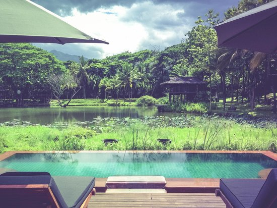 Terraces: The lower deck pool and its stunning view.