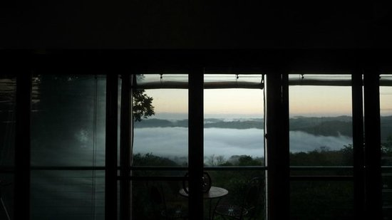 Montville Misty View Cottages: View from living area early morning