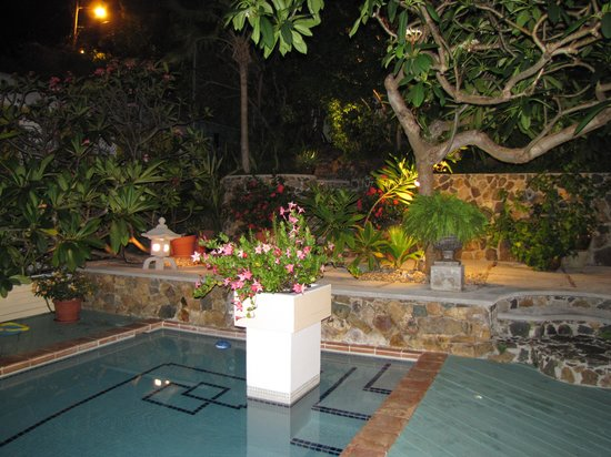 Bellavista Bed & Breakfast: The pool at night