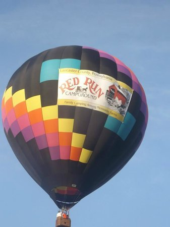 Harvest Drive Family Inn: air balloon, this was very unexpected
