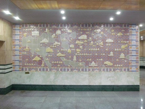 """Kazzhol : Detail Metro Haltestelle """"Zhibek Zholy"""""""