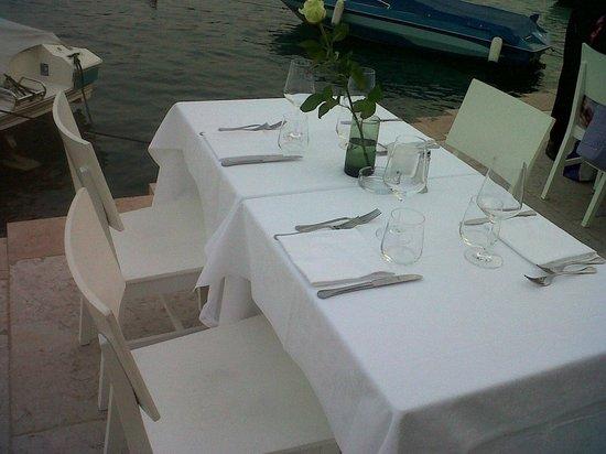 La Locanda del Benaco: Il tavolo che ci hanno riservato