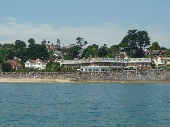 Livermead House Hotel: The hotel from the sea