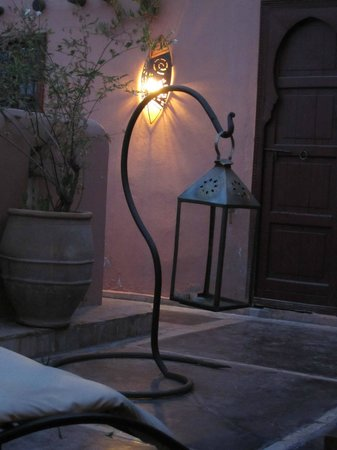 Riad Amra: at the terrace