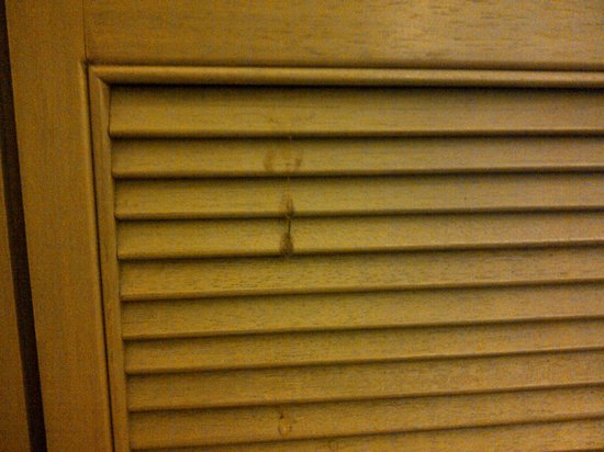 Federal Hotel: Sticky stain on wardrobe