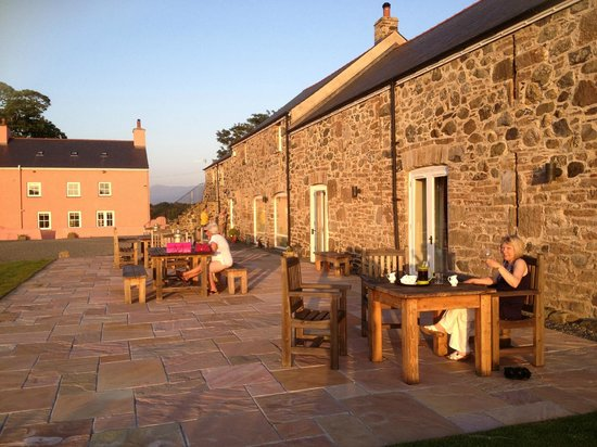 The Outbuildings : Coffee on the terrace
