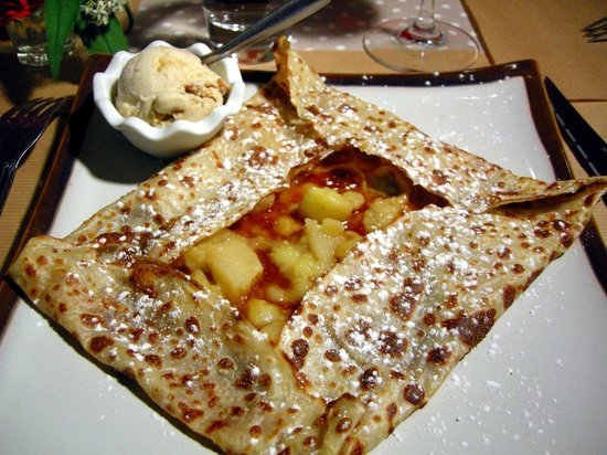 Le Coquelicot: Crêpe pommes caramel