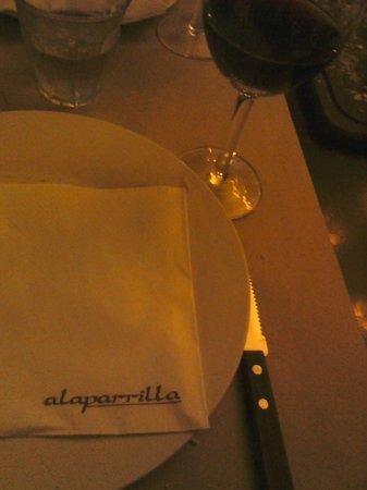 A la parrilla: mesa