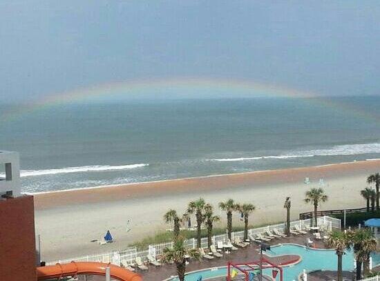 The Cove on Ormond Beach: A rainbow over the ocean!