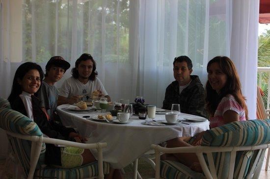 Villa Tenorio: Breakfast; Café da manhã